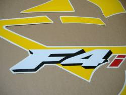 Honda 600 F4i 2004 replacement yellow/grey stickers
