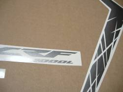 Honda Africa Twin CRF1000L 2016 silver replacement stickers