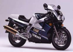 Yamaha FZR 1000 Exup 1991 3LE black/blue/white reproduction stickers