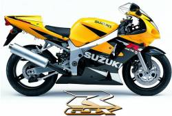 Suzuki GSXR 600 2002 yellow decals