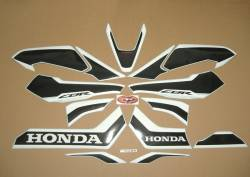 Honda Fireblade 2017 red anniversary reproduction graphics