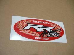 Honda Fireblade 2017 red anniversary restoration stickers