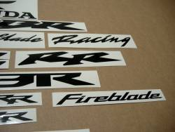 Honda 1000RR/600RR aftermarket black logo decals