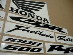 Honda CBR Fireblade customized black logo decals