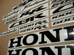 Honda CBR Fireblade aftermarket black logo emblems