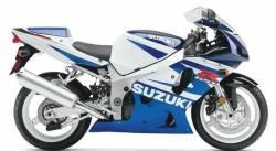 Suzuki GSX-R 600 K2 white logo graphics