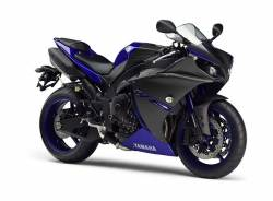 Logo decals/emblems for Yamaha R1 2013-2014 (RN22 14b) black/blue