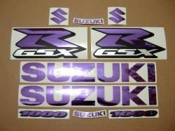 Suzuki GSX-R 1000 chrome mirror purple graphics/decals kit