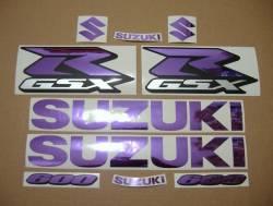 Suzuki GSX-R (Gixxer) 600 chrome mirror purple graphics/decals