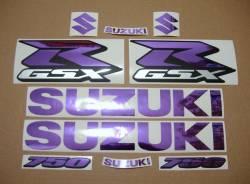 Suzuki GSX-R (Gixxer) 750 chrome mirror purple graphics/decals