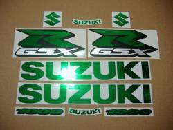 Graphics for Suzuki GSXR 1000 (Gixxer logo) in chrome mirror green