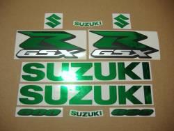 Stickers for Suzuki GSXR 600 (Gixxer logo) in chrome mirror green