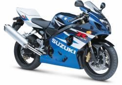 Suzuki GSXR 600 2004 white decals