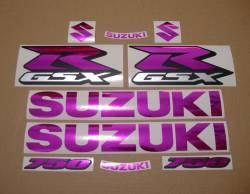 Chrome pink stickers kit for Suzuki GSX-R (Gixxer) 750 SRAD