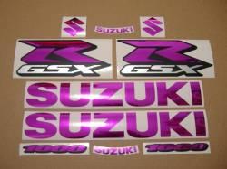 Chrome (mirror) pink decals for Suzuki GSX-R (Gixxer) 1000