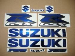 Chrome (mirror) blue decals for Suzuki GSX-R (Gixxer) 750