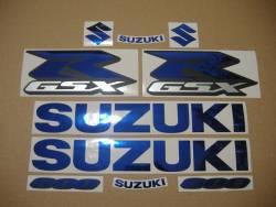 Chrome (mirror) blue decals for Suzuki GSX-R (Gixxer) 600