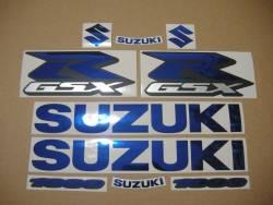 Mirrored blue logo emblems for Suzuki GSX-R (Gixxer) 1000