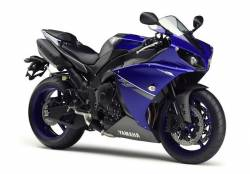 Yamaha YZF-R1 2013 blue complete reproduction adhesives kit