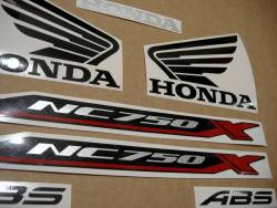 Replacement graphics set for Honda NC750X 2016 red version
