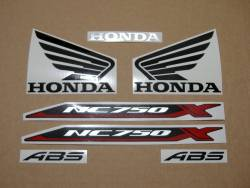 Replacement stickers set for Honda NC750X 2016 silver grey version
