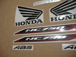 Replacement decals set for Honda NC750X 2016 silver grey version
