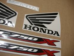 Replacement stickers set for Honda NC750X 2016-2017 black version