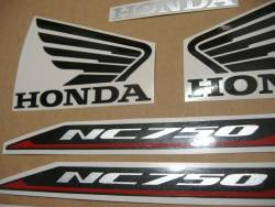 Honda NC 750XA or 750XD 2016-2017 black model complete sticker set