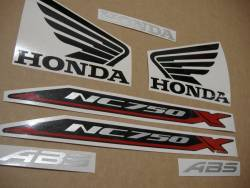 Replacement graphics set for Honda NC750X 2016-2017 black version