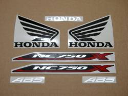 Honda NC 750XA or 750XD 2016-2017 black model complete decal set