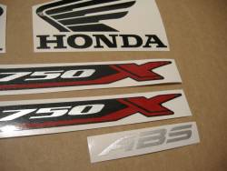 Honda NC 750XA or 750XD 2016-2017 black model logo emblems kit
