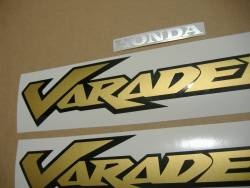 Graphics (vinyl logo replica) for Honda Varadero XL125V 02 red