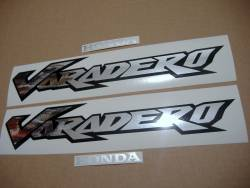 Honda Varadero XL 125V 2003 grey replacement stickers kit