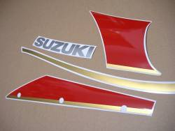 Suzuki GSXR1100 92-93 black/red replacement graphics set