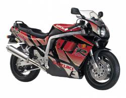 Suzuki GSXR 1100N 1992 black/red replica decal kit