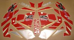 Suzuki GSXR1100 92-93 black/red replica decals set