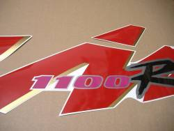 Suzuki GSXR1100 92-93 black/red restoration graphics set