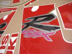 Suzuki GSXR1100 92-93 black/red replacement decals set