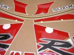 Suzuki GSXR1100 92-93 black/red replica stickers set