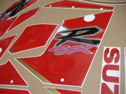 Suzuki GSXR 1100N 1992 black/red replacement decal kit
