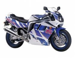 Suzuki GSXR1100 92-93 white/blue replacement emblems set