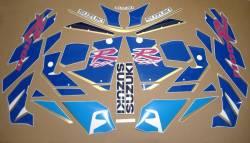 Suzuki GSXR 1100N 1992 white/blue replacement decals kit