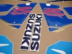 Suzuki GSXR 1100N 1992 white/blue replica logo decals set