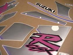 Suzuki GSXR 1100N 1992 black/silver replica logo stickers set