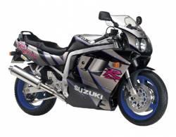 Suzuki GSXR 1100N 1992 black/silver replacement adhesives kit