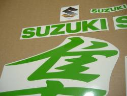 Lime green decals & custom graphics kit for Suzuki Busa 1340