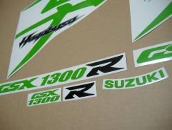 Suzuki Hayabusa k8, k9 or k10 lime green kanji logo graphics