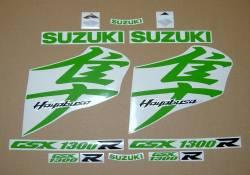 Suzuki Hayabusa 1340 custom lime green kanji logo stickers