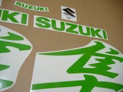 Suzuki Hayabusa k8, k9 or k10 lime green kanji logo stickers