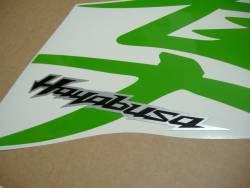 Suzuki Hayabusa 1340 lime green kanji logo graphics set
